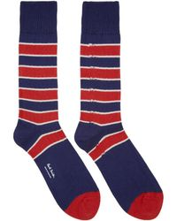 Paul Smith - Navy And Red Kenny Socks - Lyst
