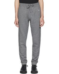 KENZO - Grey Tiger Crest Lounge Trousers - Lyst