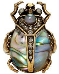 Alexander McQueen - Purple Beetle Ring - Lyst