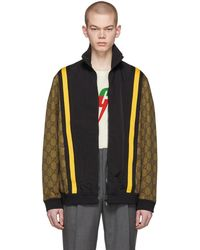 9ee90c00d Gucci - Brown And Black GG Eagle Track Jacket - Lyst