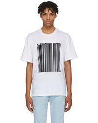 Alexander Wang - White Barcode T-shirt - Lyst