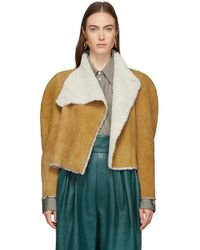 Isabel Marant - Reversible Brown Shearling Acacia Wild West Jacket - Lyst