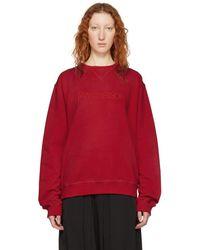 JW Anderson - Red Logo Sweatshirt - Lyst