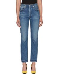 Citizens of Humanity - Blue Charlotte Straight Jeans - Lyst