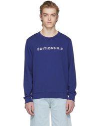 Éditions MR | Navy Logo Sweatshirt | Lyst