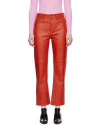 Acne Studios - Red Nappa Myrja Trousers - Lyst