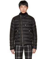 Moncler | Black Down Aubin Biker Jacket | Lyst