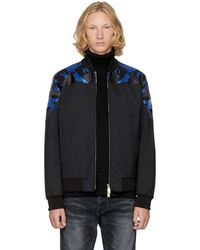 DSquared² - Black Wool Camouflage Bomber Jacket - Lyst