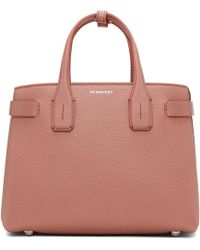 Burberry - Pink Small Banner Structured Tote - Lyst