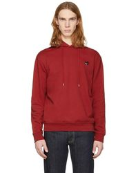 McQ - Red Swallow Badge Clean Hoodie - Lyst