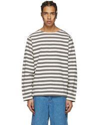 Acne Studios - Ecru Striped Nimes T-shirt - Lyst