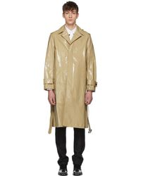 CALVIN KLEIN 205W39NYC - Beige Plastic-covered Trench Coat - Lyst