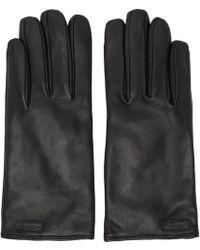 Dolce & Gabbana - Logo Patch Gloves - Lyst