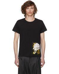 Ann Demeulemeester - Black Peony Patch Elmer T-shirt - Lyst
