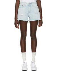 Rag & Bone - Blue Denim Justine Short - Lyst