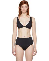 Her Line - Black Audrey Bikini Top - Lyst