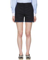 Fendi - Navy Whipstitch Shorts - Lyst