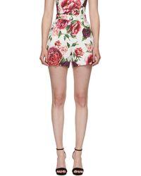 Dolce & Gabbana - Multicolour Peonie Brocade Shorts - Lyst
