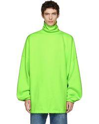 Balenciaga - Green Oversized Turtleneck - Lyst