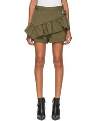 3.1 Phillip Lim - Shorts With Ruffle Apron - Lyst