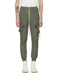 Rick Owens - Green Jog Cargo Pants - Lyst