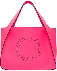 Stella McCartney - Pink Fluo Logo Tote - Lyst