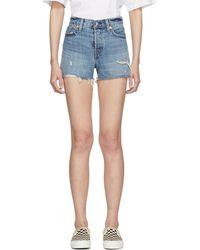 Levi's - Blue Wedgie Shorts - Lyst