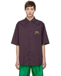 Prada - Purple Stripe Shirt - Lyst