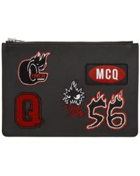 McQ - Black Varsity Badge Tablet Pouch - Lyst
