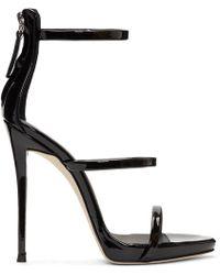 Giuseppe Zanotti - Black Coline Three-strap Sandals - Lyst