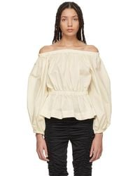 Molly Goddard - Ivory Marion Blouse - Lyst