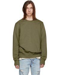 Ksubi - Green Seeing Lines Decon Sweatshirt - Lyst