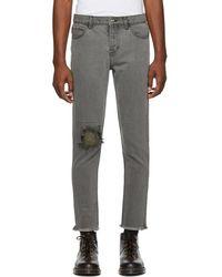 Enfants Riches Deprimes - Grey Destroyed Jeans - Lyst