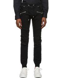 Balmain - Black Slim-fit Ribbed Jeans - Lyst