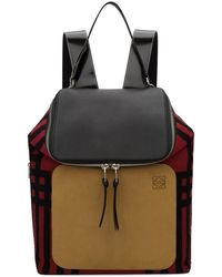 Loewe - Red And Black Mackintosh Backpack - Lyst