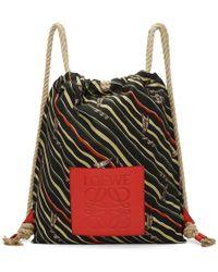 Loewe - Black Paulas Ibiza Edition Flags Backpack - Lyst