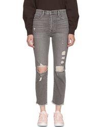 FRAME - Grey Le Original Release Hem Jeans - Lyst