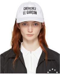 Etudes Studio | White Orly Cherchez Le Garçon Cap | Lyst