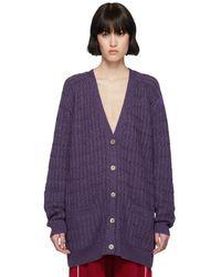 Gucci - Purple Lurex Oversized Cardigan - Lyst