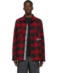 Off-White c/o Virgil Abloh - Chemise en flanelle rouge Quote exclusive a SSENSE - Lyst