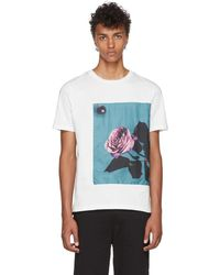 Paul Smith - White Rose Applique T-shirt - Lyst