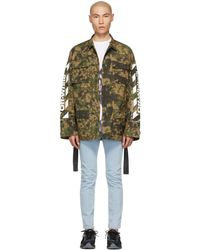 6d842f0e2145e Off-White c/o Virgil Abloh - Green Camouflage Diag Field Jacket - Lyst