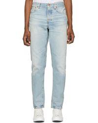Nudie Jeans - Blue Steady Eddie Ii Regular Tapered Fit Jeans - Lyst