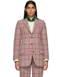 Gucci - White And Red Plaid Blazer - Lyst