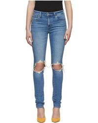 Levi's - Blue 721 High-rise Skinny Jeans - Lyst