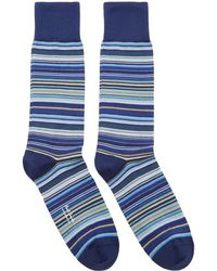 Paul Smith - Navy Multi Stripe Socks - Lyst