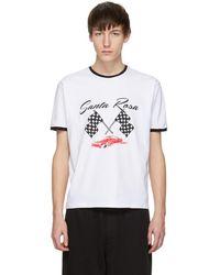 McQ - White Racing Santa Rosa T-shirt - Lyst