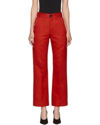 Kwaidan Editions - Red Lockwood Trousers - Lyst