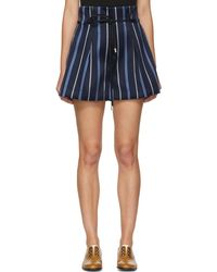 3.1 Phillip Lim | Blue Striped Jacquard Shorts | Lyst