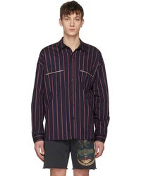 Fear Of God - Navy Oversized Piped Shirt - Lyst